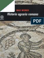 Weber Max - Historia Agraria Romana