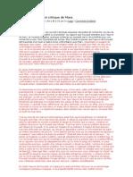 Foucault Lecteur Et Critique de Marx