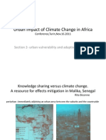 Urban Impact of Climate Change in Africa
