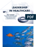 Leadership in Healthcare, Ola Elgaddar, 09-09-2013