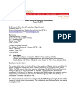 TEA investigative report on Children First Academy, Aug. 30, 2013