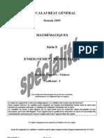 Maths spécialité série S Metropole