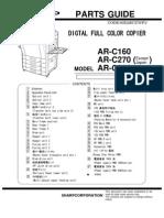 Sharp Ar-c160 Ar-c270 Ar-c280 PartsGuide