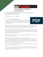 05-09-2013 Sexenio Puebla - Puebla, Primer Estado en Firmar Convenio Con La MUCD