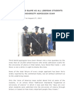 No Whites to Blame as All Liberian Students Fail University Admission Exam