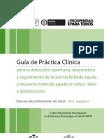 Guía para la detección oportuna, diagnóstico y seguimiento de leucemia linfoide aguda y leucemia mieloide aguda en niños, niñas y adolescentes