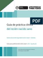 Guía de práctica clínica del Recien Nacido Sano.