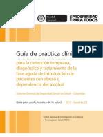 Guía para la detección temprana, diagnóstico y tratamiento de la fase aguda de intoxicación de pacientes con abuso o dependencia del alcohol