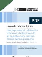 Guía para la prevención, detección temprana y tratamiento de las complicaciones del embarazo, parto o puerperio