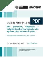 Guía de referencia rápida para prevención, diagnóstico y tratamiento de la Enfermedad Diarreica Aguda en niños menores de 5 años