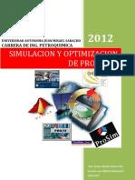 Simulacion y Optimizacion de Procesos