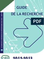Guide de la Recherche 2012-2013