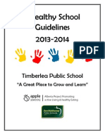timberlea healthy school guidelines