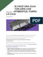 CÓMO SE HACE UNA CAJA DE CARTÓN GRIS CON COMPARTIMENTOS