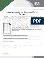 FICHA 10, REPRESENTACIÓN DE INFORMACIÓN EN TABLAS