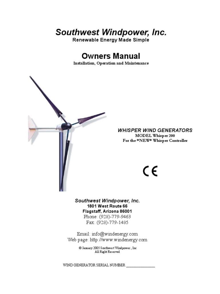 Wind Energy Work Rh Exploringgreentechnology Michaelieclark Simple Electric Generator Diagram Whisper 1000 Watt User Manual Power Scribd Com Graphs
