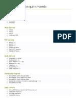 Web Server Requirements
