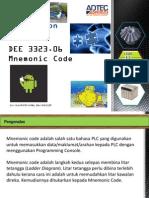 DEE 3323.06 Mnemonic Code