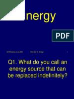 Energy Science Quiz