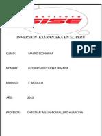 Inversiones Extranjeras en El Peru