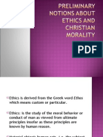 Preliminary Notions About Christian Morality