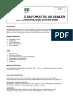 10.03 ROCKBOND DUROMASTIC AR SEALER Clear Penetrating Acrylic Concrete