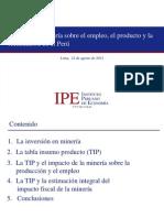 2 Efecto de La Mineria Sobre El Empleo El Producto y Recaudacion en El Peru_Agosto 2012
