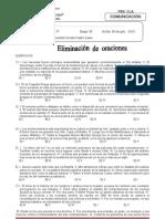 ELIMINACIÓN DE ORACIONES  grupo B 4 - 5-2013- 22 DEJUNIO