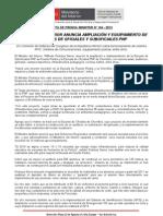 MINISTRO DEL INTERIOR ANUNCIA AMPLIACIÓN Y EQUIPAMIENTO DE ESCUELAS DE OFICIALES Y SUBOFICIALES PNP