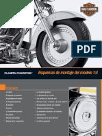 Esquema Harley Davidson Escala 1 a 5
