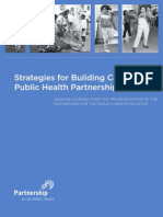 Strategies for Building Community-Public Health Partnerships