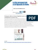 Diputados Boliva - Boletín informativo 9-9-2013