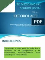 Instituto Mexicano Del Seguro Social Ketorolaco