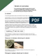Calcaire Et Corrosion