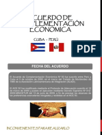 TRATADO DE LIBRE COMERCIO  PERÚ - CUBA