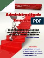 CONFORMACIÓN DE LA EMPRESA INDIVIDUAL DE RESPONSABILIDAD LIMITADA  Y SOCIEDAD ANÓNIMA-ULADECH PIURA-EDUARDO AYALA TANDAZO