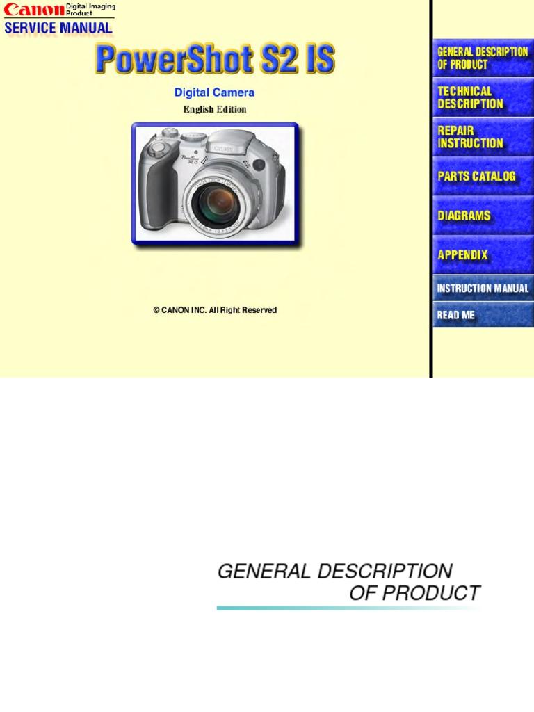canon powershot s2 is autofocus camera lens rh scribd com Canon imageCLASS Mf419dw Manual Canon User Manuals PDF