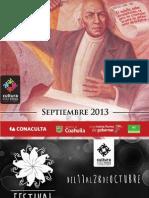 SECULT- Cartelera 0913_web Septiembre
