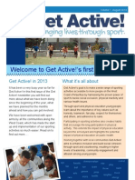 Get Active Newsletter Aug 2013