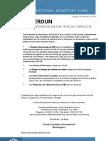 Cameroun Consultations de 2013 Au Titre de l'Article IV