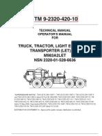 TM 9-2320-420-10   M983A2LET   PART 1