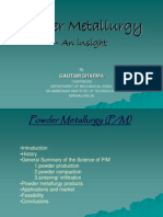 53005236 Powder Metallurgy Seminar Gautam Copy