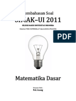 Pembahasan Soal SIMAK-UI 2011 Matematika Dasar Kode 211