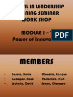 InnovatiINNOVATION - PPT MODULE 5on - Ppt Module 5