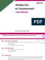 Analiza Cen Imprez Turystycznych (09.09.13)