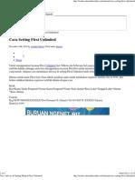 Cara Aktivasi & Setting Modem Flexi Unlimited