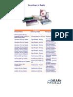 Alkan Pharma Products
