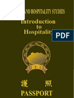 Introduction to Hospitality Eng