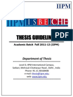 All India Thesis Guidelines Fall 2011-13 IIPM Batches