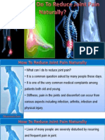 What Can I Do To Reduce Joint Pain Naturally?